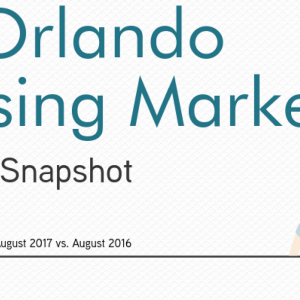 Orlando, FL Housing Market Report August 2017