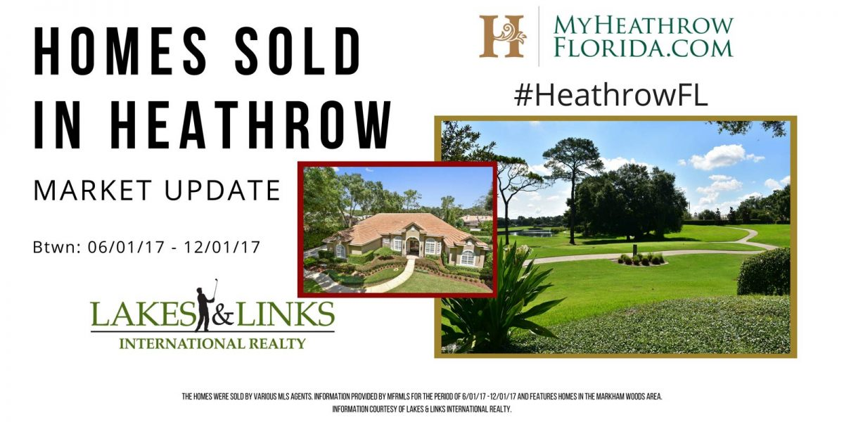 Homes Sold In Heathrow Seminole County, FL