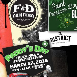 St. Patrick's Day Events March 17, 2018 in Central Florida